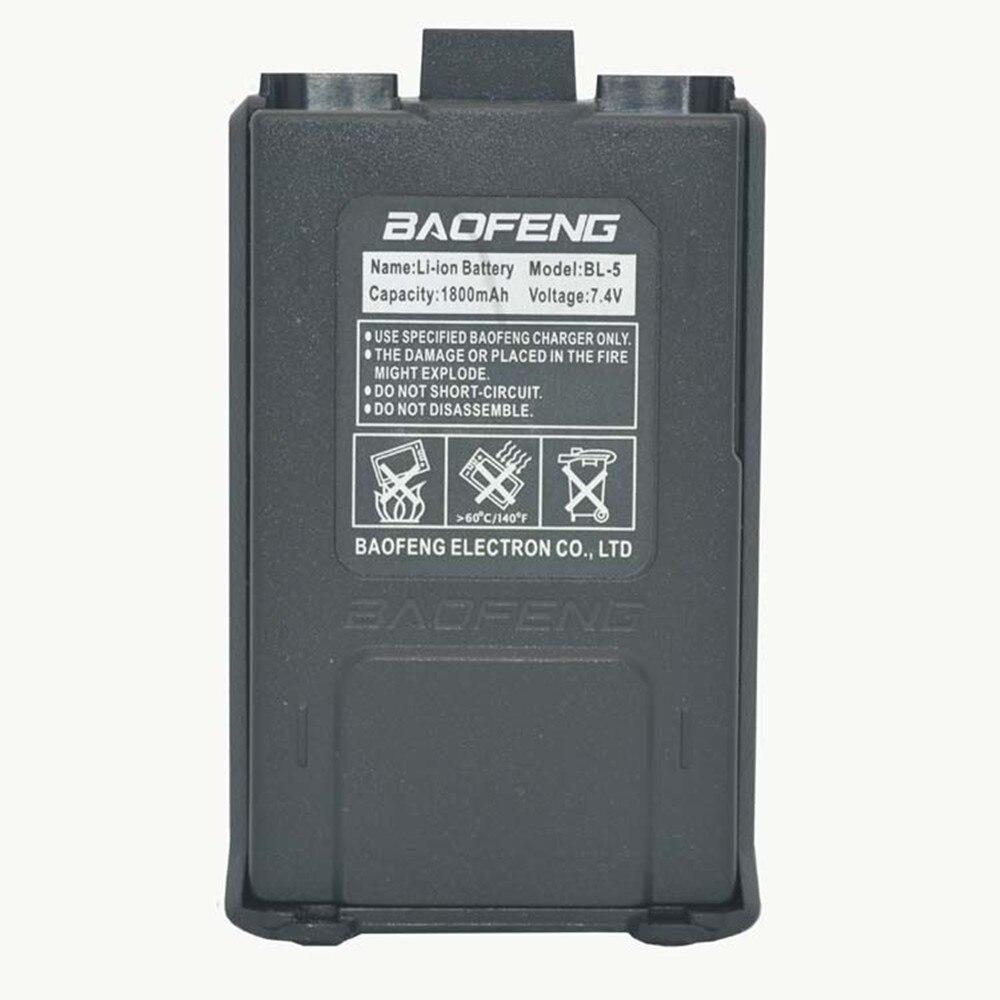 imágenes para 1800 mah BL-5 Li-Ion Batería Para Radio Baofeng uv5r Originales Accesorios Walkie Talkie Baofeng Uv-5re UV-5R 5ra Uv 5r Batería
