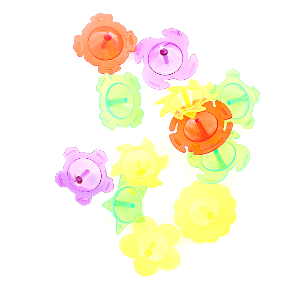 1 Stks Plastic Mini Top Spinning Kleuterschool Enkele Fidget Spinner Hand Spiner Gyro Speelgoed Willekeurige Multi Stijlen Punctual Timing