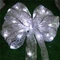 4 М 40led свет Шнура Кружева Ленты лук-узел для Chirsmas дерево Брак номер свадьба Питание От 3 * AA батареи TW