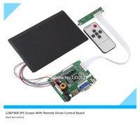 7''Inches LCD Ekran Yüksek Çözünürlük 1280*800 IPS Ekran Ile Uzaktan Sürücü Kontrol Kurulu Ahududu 2AV HDMI için VGA Pi