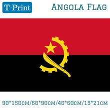 90*150cm/60*90cm/40*60cm/15*21cm The Angola Polyester Flag 5*3FT Hanging Flying For World Cup National Day Olympic Games