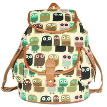 New Women Printing Backpack Multi-functional Canvas Flowers Animal Shoulder School Bag For Teenagers Girls Travel Bags-47