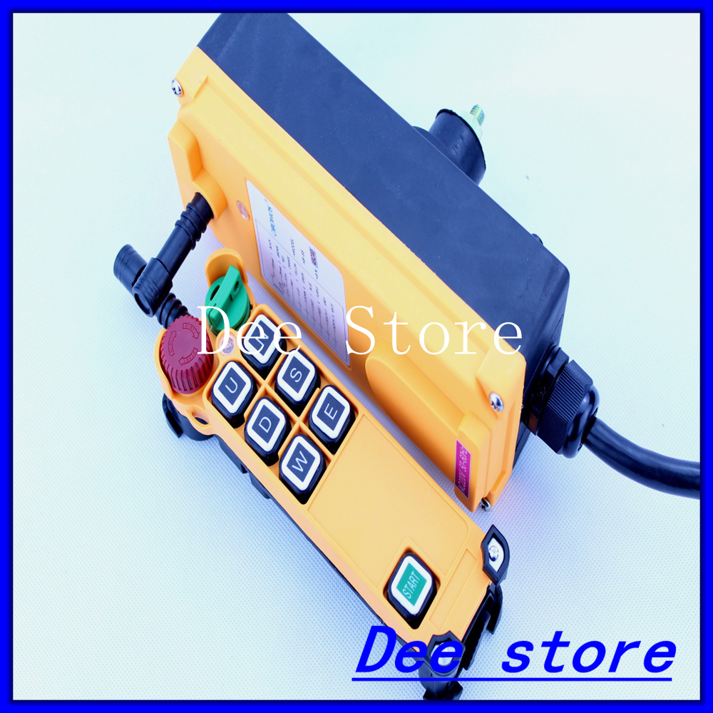 3 Motion 1 Speed Transmitter Hoist Crane Truck Radio Remote Control Push Button Switch System with E-Stop