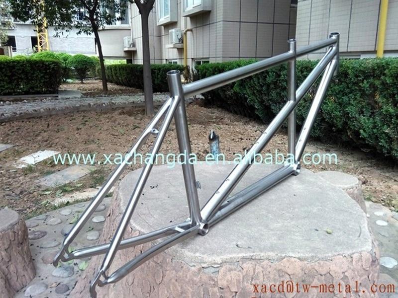 Road-Frame Tandem 700ctitanium with Handing-Brush Finished
