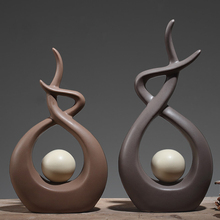 Minimalist ceramic statue home decor crafts room decoration handicraft ornament porcelain creative figurines wedding decorations