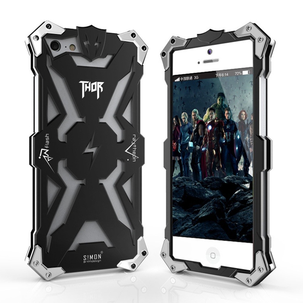 separation shoes c3cc8 11b8d US $26.7 |For iPhone 5 5s / iPhone SE Luxurious callous Heroic THOR Metal  Cover Original Design Aviation Aluminum Phone Case-in Fitted Cases from ...