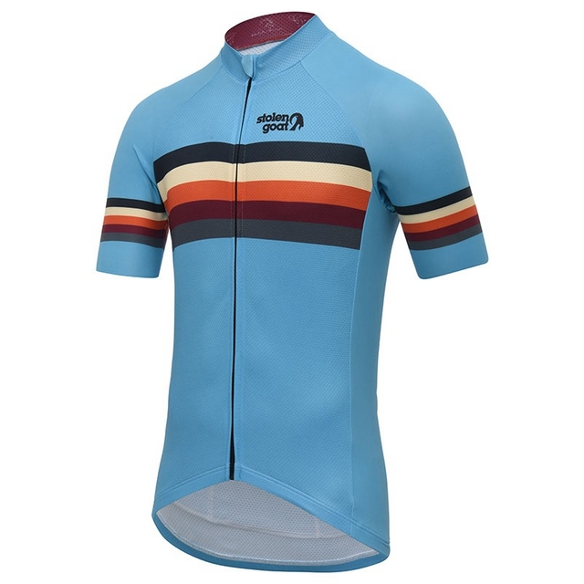 Stolen goat Striped Cycling Jersey short sleeve bicycle clothing Summer Line pattern maillot homme quick dry t shirt road bike 3