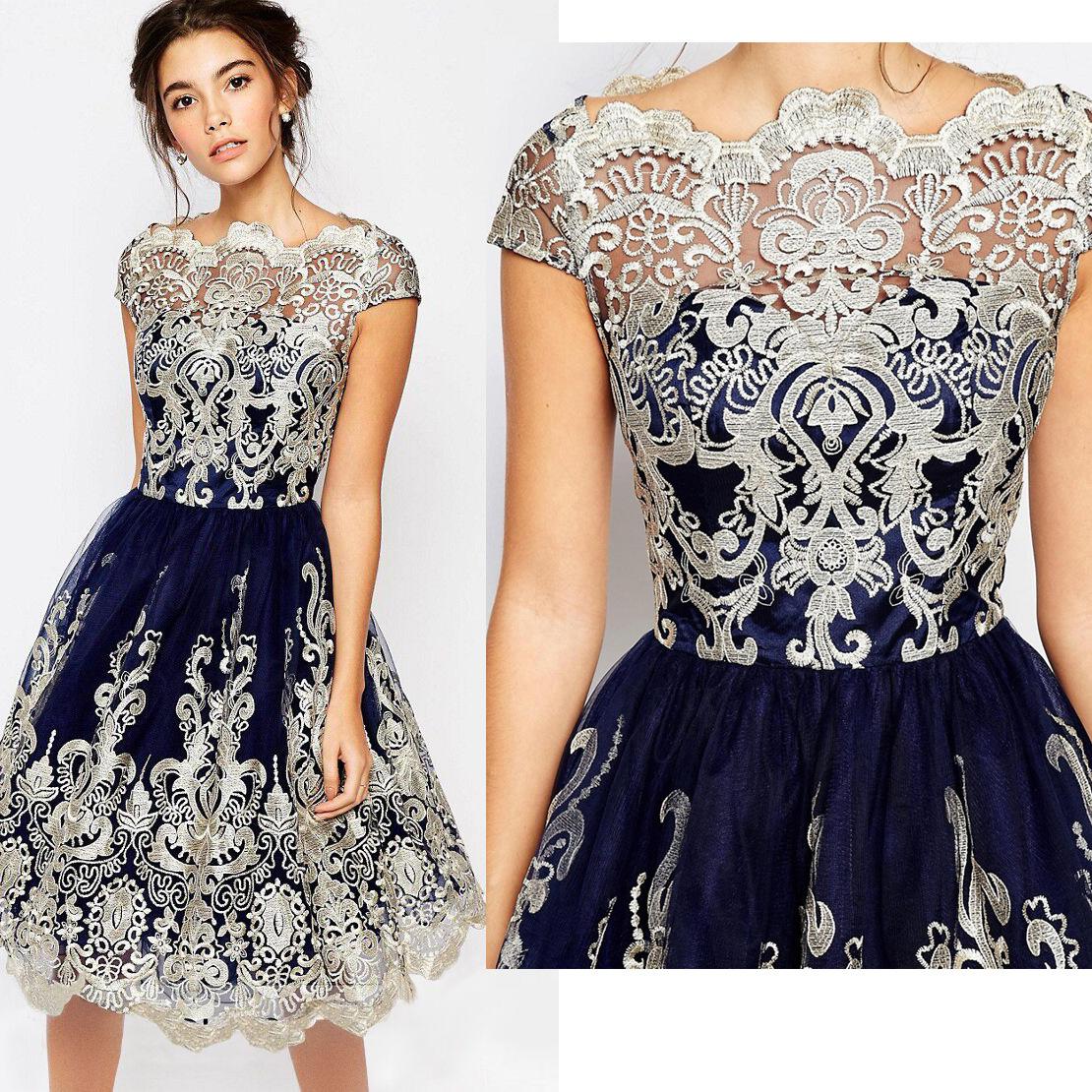 7b617a8ebb1 2017 Elegant Lace Flower Vintage Women Summer Dress Plus Size S~XL ...