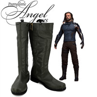 Marvel Super Hero Avengers: Infinity War Bucky Barnes Winter Soldier Cosplay Party Shoes Custom Made