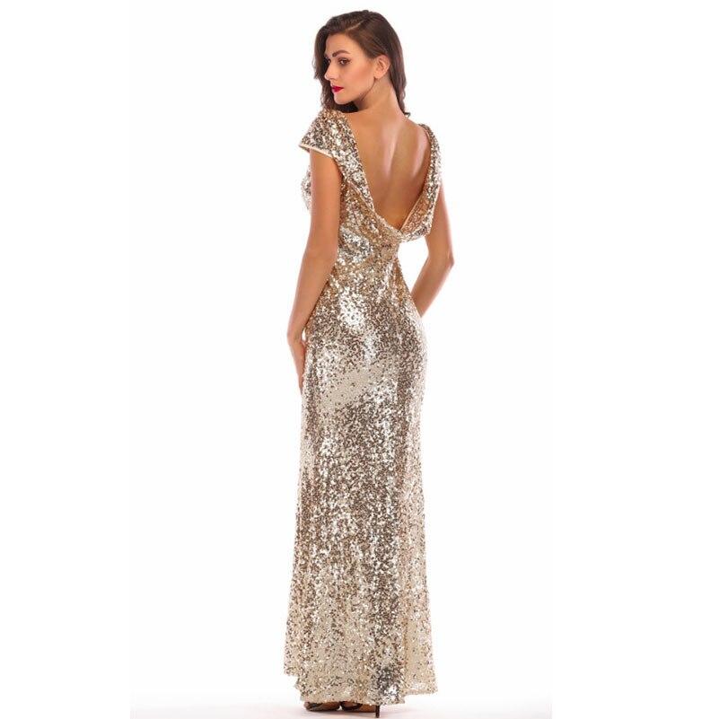 Muxu De Mode Paillettes Robes Dos Sexy Nu Libre Halter Femmes Vêtements Or  Longue Shiping Kleider Femme Robe ... cebe082e0c7