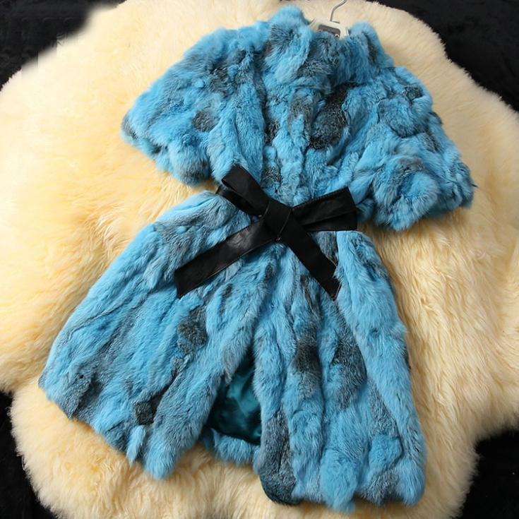 2019 Women New Arrival Real Rabbit Fur Coat Genuine Natural Rabbit Real Fur Vest Winter Fur