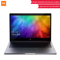 Original Xiaomi Laptop Air 13.3 8GB DDR4 256GB SSD Intel i5 i7 Quad Core Notebook MX150 2GB Fingerprint Recognize Ultraslim PC