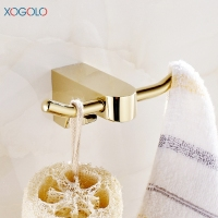 Xogolo Copper Gold Color Clothes Hooks Solid Gold Wall Clothes Wall Hook Bathroom Accessories