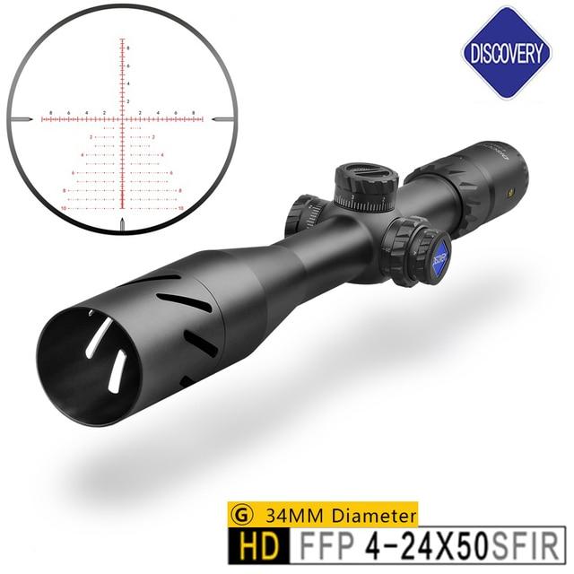 Celownik optyczny marka Discovery HD 4-24X50 luneta polowanie celownik kolimatorowy i polowania na Chasse celem optyczna luneta celownicza do karabinu Caza