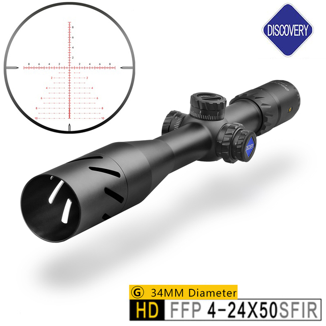 Optical Sight Brand Discovery HD 4-24X50 Riflescope Hunting Collimator Sight And Hunting For Chasse Aim Optics Rifle Scope Caza