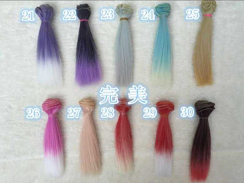 1 pcs 15*100 cm 30 cores Lolita Menina Tranças onda Material de Peruca de Cabelo Peruca Para BJD Boneca SD fit para 1/6 1/3 1/4 Acessórios Da Boneca
