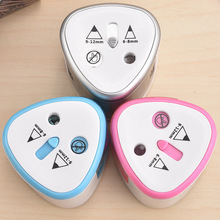 ФОТО electric two holes pencil sharpener desktop student automatic pencil sharpeners for art painting stationery supplies