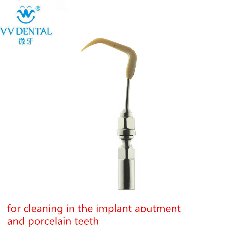 Dental ultrasonic scaler tip for EMS original handpiece for the implant abutment and porcelain teeth the hollies lingen ems