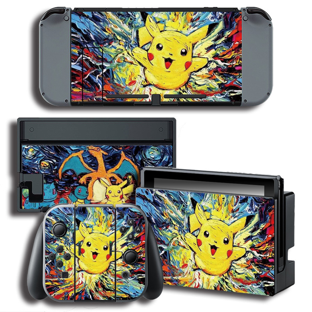 The Legend of Pokemon Pikachu Vinyl Skin Stickers for Nintend Switch Console Protector Cover Decal Vinyl Skin for Skins Sticker