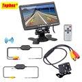 Sistema de Assistência de Estacionamento sem fio 2 em 1 170 Graus Mini Câmera de Visão Traseira do carro + 7 polegadas TFT LCD Carro de Backup Monitor de