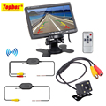 Wireless Parking Assistance System 2 in 1 170 Degrees Mini Car Rear View Camera + 7inch TFT LCD Car Backup Monitor