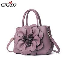 1b20dde8b3ae Сумки для женщин Роскошные сумки дизайнер бренда женской одежды сумка  повседневное Shopping Tote из искусственной кожи Цветы