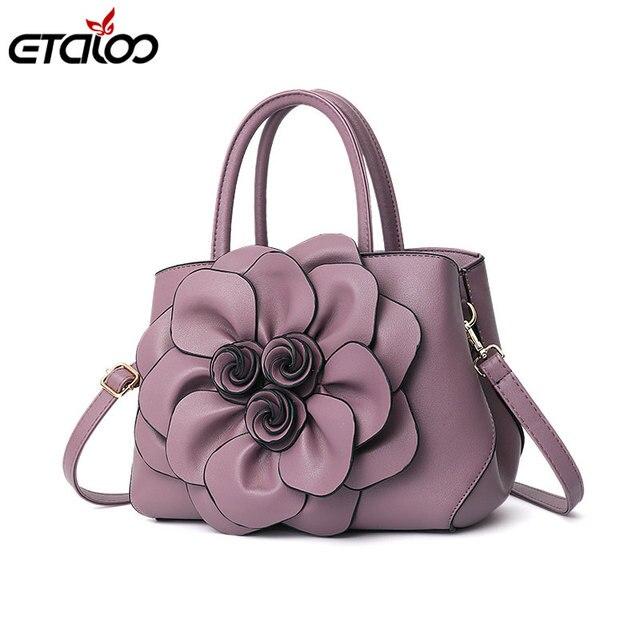 Bags For Women Luxury Handbag Female Brand Designer Shoulder Bag Casual  Shopping Tote PU Leather Handbags Flowers 721b2040356f0