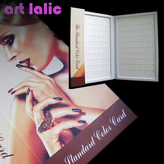 High quality 240 Colors Nail Gel Polish Display Book Chart for Nail Art Salon Elegant Woman nail art tool