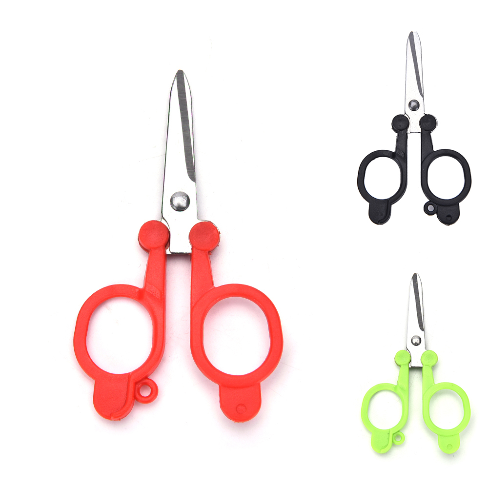 2017 1pc Multicolor Useful Trimming Scissors Nippers Clippers Sewing Embroidery Yarn Stainless Steel Folding Small Scissors