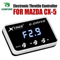 자동차 전자 스로틀 컨트롤러 레이싱 가속기 마즈다 CX-5 튜닝 부품 액세서리를위한 강력한 부스터
