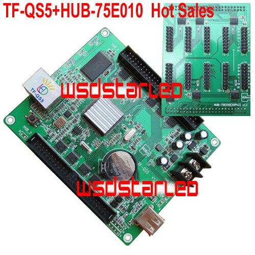 Tf-qs5 + Hub-75e010 10 * Hub75e 1/4 1/8 1/16 1/32 Scan 320*128 Usb + Lan Port Volle Farbe FÜhrte Steuer Karte Neue Heiße Verkäufe