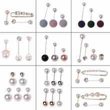 Mixture Of Classic Style Imitation Pearl Brooches Safety Pins Set For Women(China)