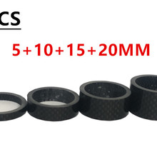 4PCS full carbon fiber bicycle carbon spacer hollow Ultra li