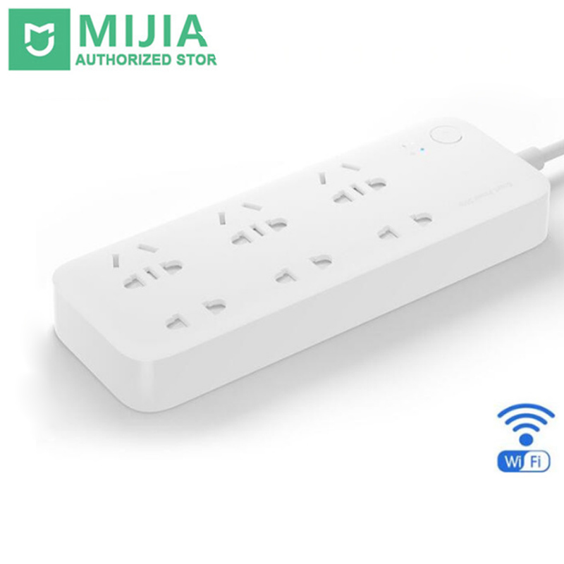 Original Xiaomi Smart Power Strip 2 Socket Outlet Plug Mi Smart socket Home Strip for Home Electronics WiFi App Remote Control original xiaomi mi smart wifi socket app remote control timer power plug power detection zigbee version
