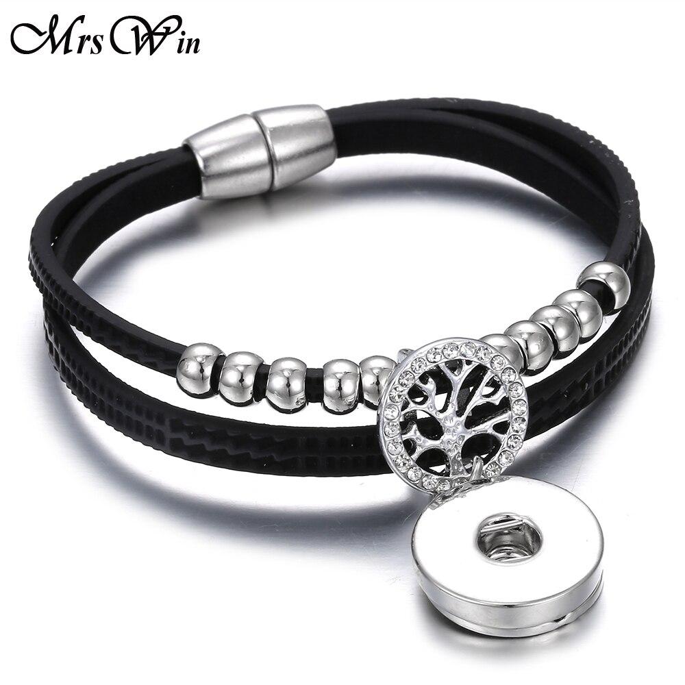 Bracelets Leather Snap Button Bracelet Bangle Jewelry Leather 18Mm Snap Bracelet for Men Women for DIY 18Mm Snap Buttons Jewelry Jewellery & Watches Fan Shop