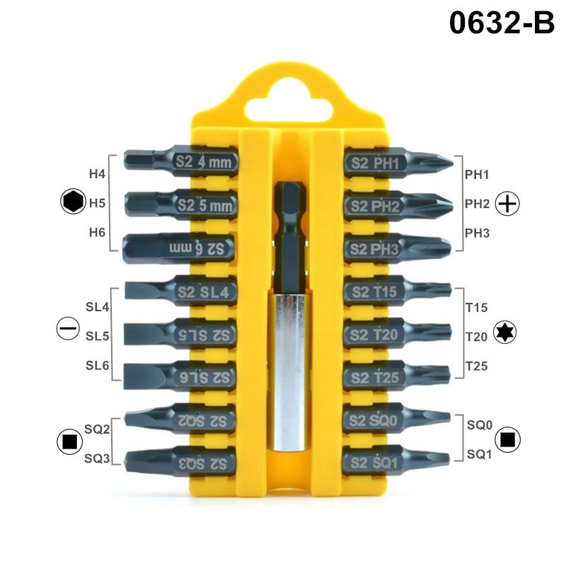 17pcs punte per cacciavite cacciavite elettrico S2 Torx Phillips Hex - Utensili manuali - Fotografia 3