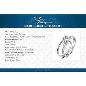Image 5 - JewelryPalace 1.3ct Cubic Zirconia aniversario boda compromiso solitario anillo nupcial establece 925 joyería de plata esterlina