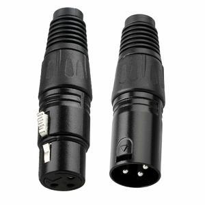 Image 4 - Conector XLR de 3 pines Cable de micrófono de Audio, 10 pares, macho negro + hembra, Cable de enchufe de micrófono, adaptador XLR de conexión (10x macho + 10x hembra)