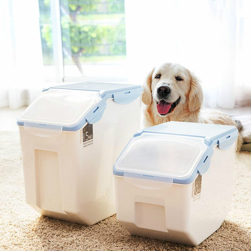Dog cat food barrel large capacity pet storage grain sealed barrel feed storage box pet feed pet supplies WF704350 image