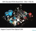 HIFI Decoder PCBA DAC 24bit /192k Coaxial Optical USB Receiver CS8416 Decode AD1852 Audio DIY Free Shipping