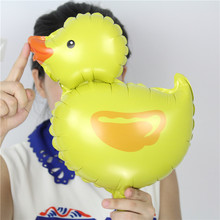 New arrive 100pcs/lot good Quality mini duck foil balloon Birthday party decoration air-filled animal ballons MN071