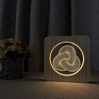 LOVE HEART 3d shape Wooden acrylic lights warm white lights gift for LOVERS Support dropshipping