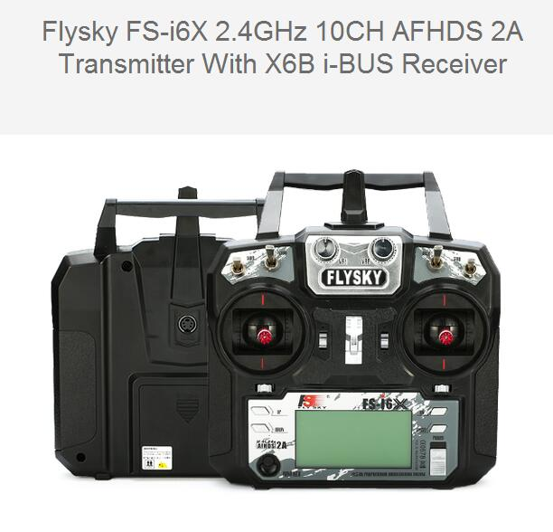 Flysky FS-i6X I6X 2.4GHz 10CH AFHDS 2A RC Transmitter With X6B i-BUS Receiver For Rc Airplane