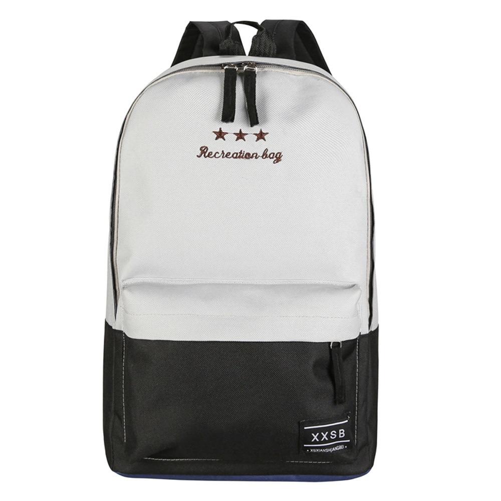 60dd4a0d86da6 الأزياء حقيبة سفر قماش ضرب اللون الربط حقيبة مدرسية حقيبة السيدات ...