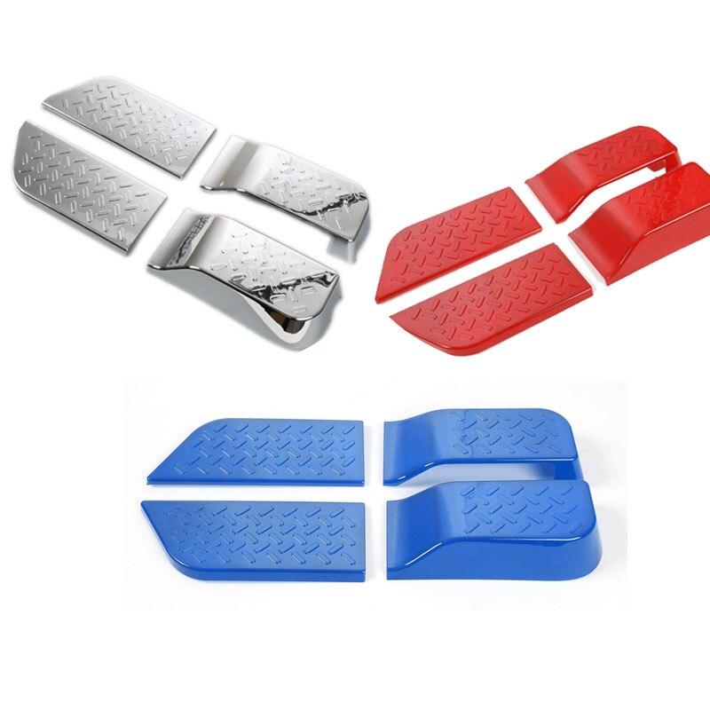 АБС интерьер дверь отделка Крышка для Wrangler 2007-2010 2/4 двери Внутренняя Деко комплекты красный синий серебро