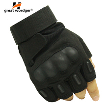 Tactical Gloves Military Outdoor Antiskid Fingerless Men Fighting Airsoft Paintball Army Combat Shooting Mittens