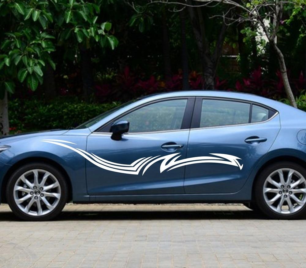 Blue car sticker design - Car Racing Stripe Door Decals For Civic Vinyl Graphics Side Sticker 267 China