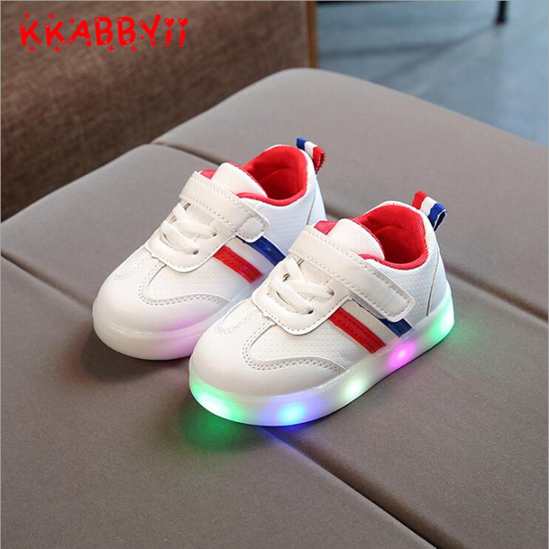 2018 New Spring Autumn Children's Luminous Sneakers Kids Led Shoes Chaussure Enfant  Girls Boys Shoe With LED Light