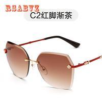 Mix Wind 2017 Women And Men Sunglasses Frameless Sunglasses Fashion Ocean Film Sunglasses Retro SunglassesUV400 Free