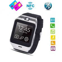 "2016 wasserdichte Sim-karte Smartwatch Telefon 1,55 ""GSM NFC Kamera Armbanduhr Health Monitor für iPhone7 Android Telefon GV18"